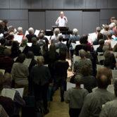 Kor72-stævne-koncert med 150 sangere, orkester og solister
